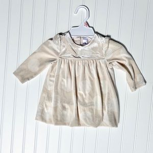 BabyGap ivory dot velvet dress (6-75)